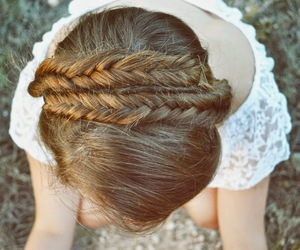 braid, braids, and hair image