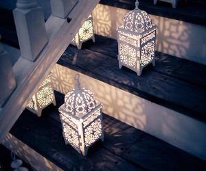 light, stairs, and lantern image