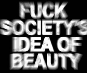 beauty, black and white, and text image