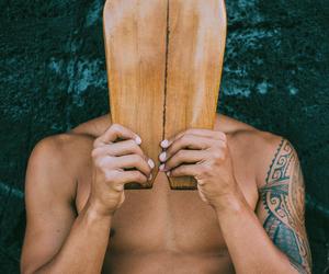 hawaii, surf board, and surfer image