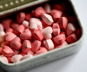 heart, candy, and pink image