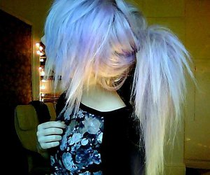 hair, scene, and emo image