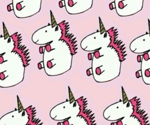 unicorn, pink, and wallpaper image