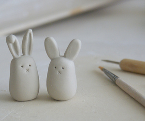 bunnies, clay, and craft image