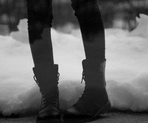 boots, black, and legs image
