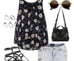 flowers, outfit, and shoes image