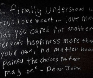 dear john, quote, and love image
