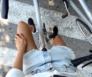 bike and girl image