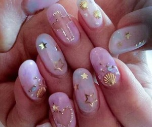 nails, girl, and stars image