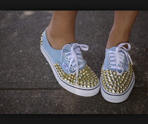 vans, shoes, and studs image