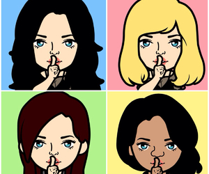 pretty little liars, pll, and faceq image