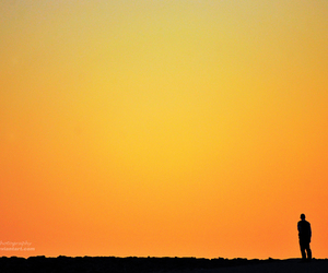 alone and sunset image