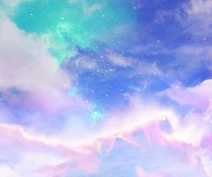 clouds, colorful, and galaxy image