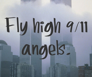 angel, fly, and twin towers image