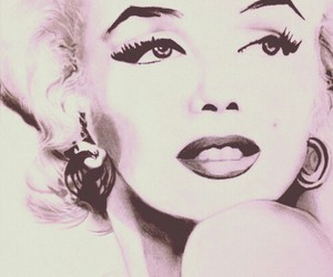 drawing, Marilyn Monroe, and old image