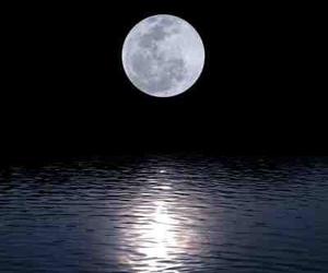 beautiful, moon, and night sky image