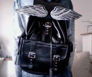 bag, black, and wings image