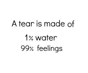 feelings, water, and tears image
