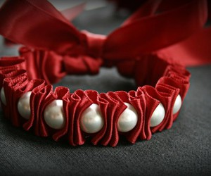 bracelet, pearls, and red image