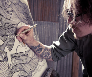 art, tattoo, and brandon boyd image