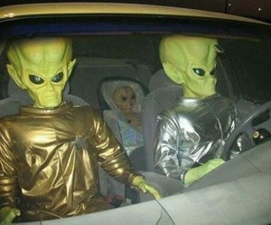alien, family, and car image