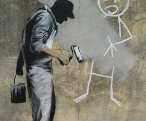 art, BANKSY, and graffiti image
