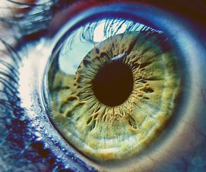 eye, eyes, and green image