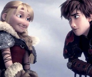 hiccup, astrid, and how to train your dragon image