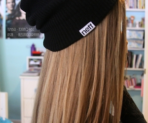hair, girl, and neff image