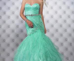 blue dresses, mermaid prom dresses, and prom dresses 2014 image