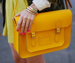 pretty, purse, and yellow image