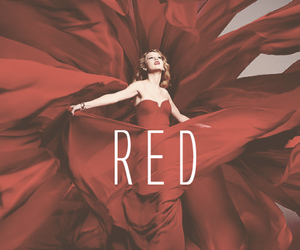 Taylor Swift and red image