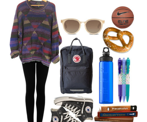 college, fashion, and outfit image