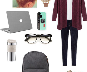 college, fall, and fashion image