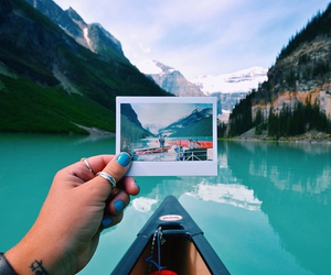 travel, mountains, and sky image