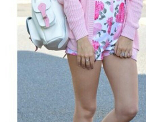 backpack, fashion, and pink image