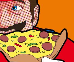 pizza, pop art, and art image