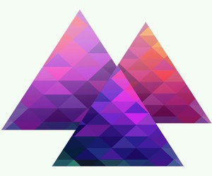 hipster, overlay, and triangulos image