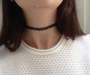 grunge, pale, and choker image