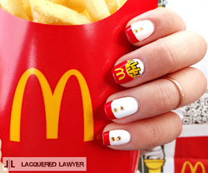 nails, food, and McDonalds image