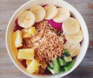 food, banana, and fitness image