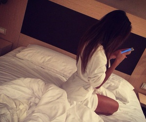 girl, bed, and luxury image