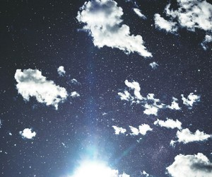 sky, clouds, and stars image