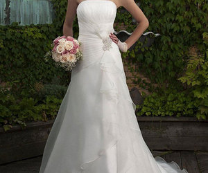 bride, fashion, and dresses image