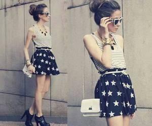 fashion, stars, and skirt image