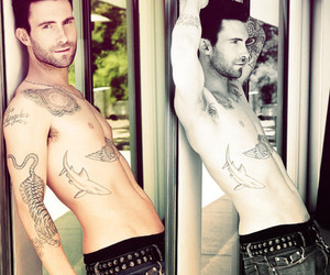 body, jeans, and adam levine image