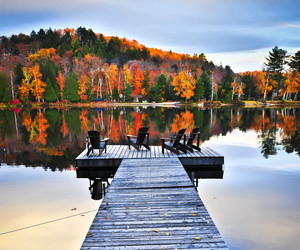 autumn and lake image