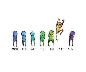 saturday, week, and happy image