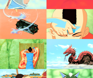 avatar, aang, and sokka image