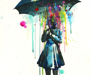 paint, rainbow, and watercolor image